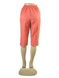 Women's Pull On Capri in Wholesale Packs. BURN ORANGE | Made in the USA. #4311