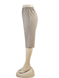 Women's Pull On Capri in Wholesale Packs. MED BEIGE | Made in the USA. #4311