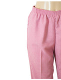 Women's Cross Dye Pull On Dress Pants in Wholesale Packs. Pink | Made in the USA. #4456