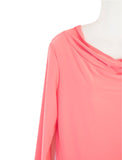 Women's Drape Neck 3/4 SLv Blouses Wholesale Pack. Coral | Made in the USA #1114SL