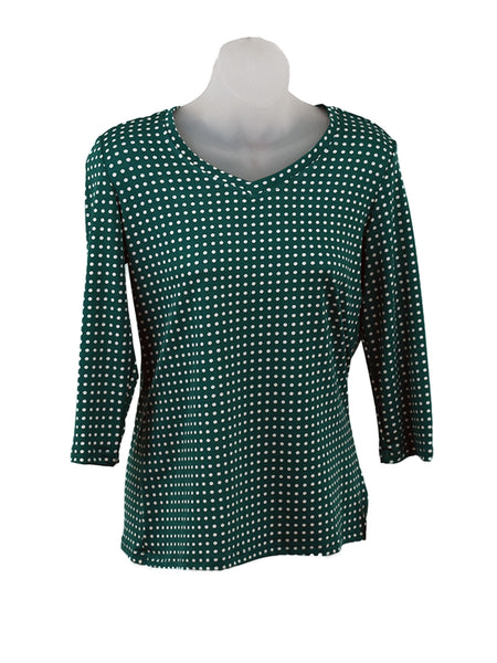 Women's V Neck 3/4 Slv Blouses in Wholesale Packs. Print #114 | Made in the USA. #1137PR114