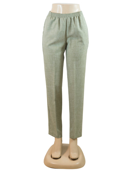 Women's Cross Dye Pull On Dress Pants in Wholesale Packs. Beige | Made in the USA. #4456