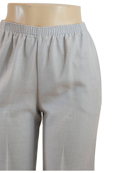 Women's Cross Dye Pull On Dress Pants in Wholesale Packs. Light Grey | Made in the USA. #4456