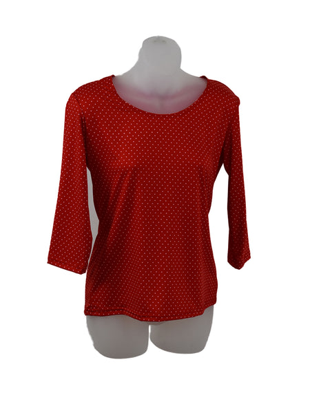 Women's Scoop Neck 3/4 Slv Blouses in Wholesale Packs. Print 110- Made in the USA. #1022PR