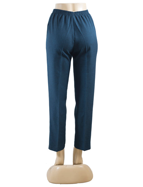 Women's Cross Dye Pull On Dress Pants in Wholesale Packs. Navy | Made in the USA. #4456