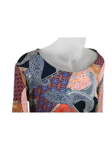 Women's Scoop Neck 3/4 Slv Blouses in Wholesale Packs. Print 156 - Made in the USA. #1022PR
