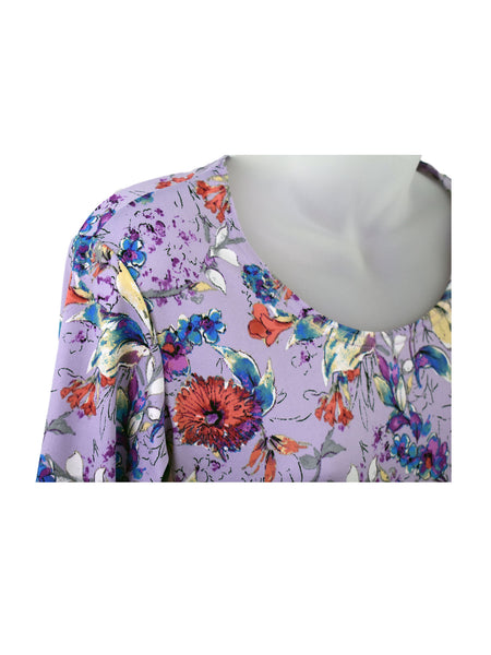 Women's Scoop Neck 3/4 Slv Blouses in Wholesale Packs. Print 158 - Made in the USA. #1022PR