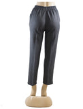 Women's Cross Dye Pull On Dress Pants in Wholesale Packs. Dark Grey | Made in the USA. #4456
