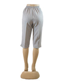 Women's Pull On Capri in Wholesale Packs. LIGHT GREY | Made in the USA. #4311