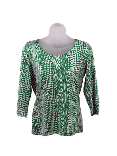 Women's Scoop Neck 3/4 Slv Blouses in Wholesale Packs. Print 159 - Made in the USA. #1022PR
