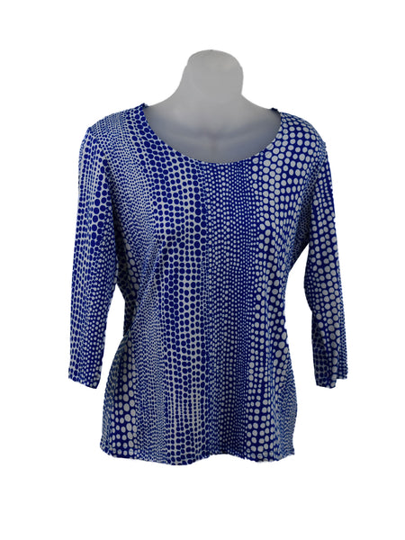 Women's Scoop Neck 3/4 Slv Blouses in Wholesale Packs. Print 153 - Made in the USA. #1022PR