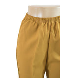 Women's Pull On Capri in Wholesale Packs. PALE YELLOW | Made in the USA. #4311