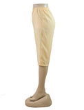 Women's Pull On Capri in Wholesale Packs. IVORY | Made in the USA. #4311