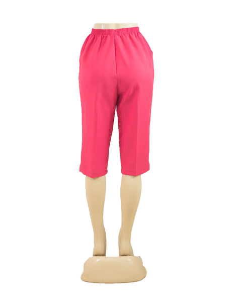 Women's Pull On Capri in Wholesale Packs. FUSHIA | Made in the USA. #4311