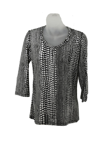Women's V Neck 3/4 Slv Blouses in Wholesale Packs. Print #134 | Made in the USA. #1137PR134