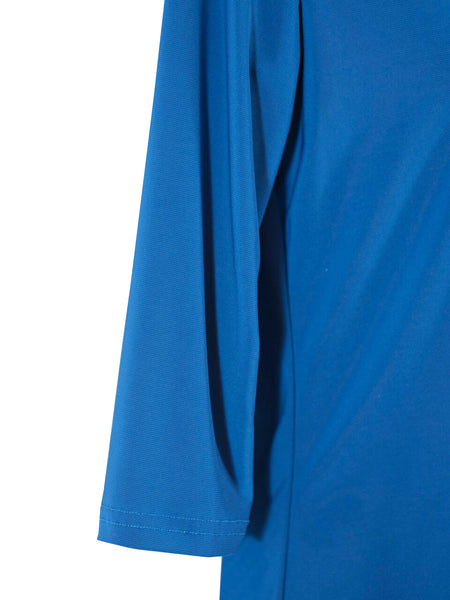 Womens Royal Blue V Neck 3/4 Slv Blouses Wholesale Pack. Made in the USA. #1137PR146