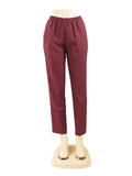 BURGUNDY PULL ON DRESS PANTS WHOLESALE PACK MADE IN USA LOG IN FOR PRICE