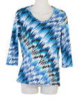 Women'sV Neck 3/4 Slv  Blouses in Wholesale Packs. Print #16 | Made in the USA. #1137PR16