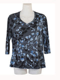 Women's V Neck 3/4 Slv Blouses in Wholesale Packs. Print #23 | Made in the USA. #1137PR23