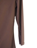 Women's Drape Neck 3/4 SLv Blouses Wholesale Pack. Brown | Made in the USA #1114SL