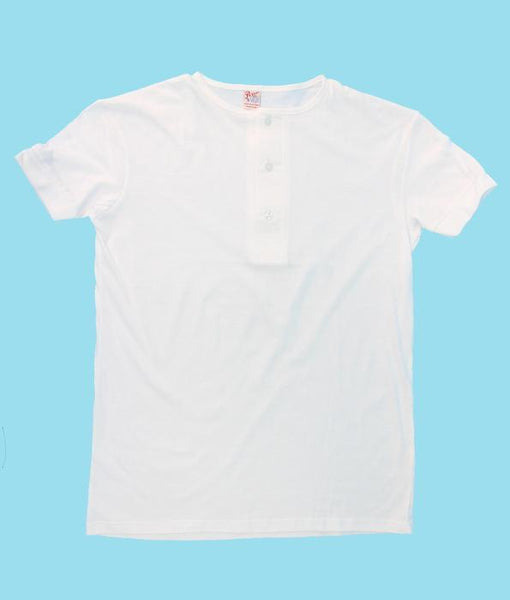 Men's Henley T-shirts. Wholesale Pack at amazing price. Color: White | Camisetas Perros Brand