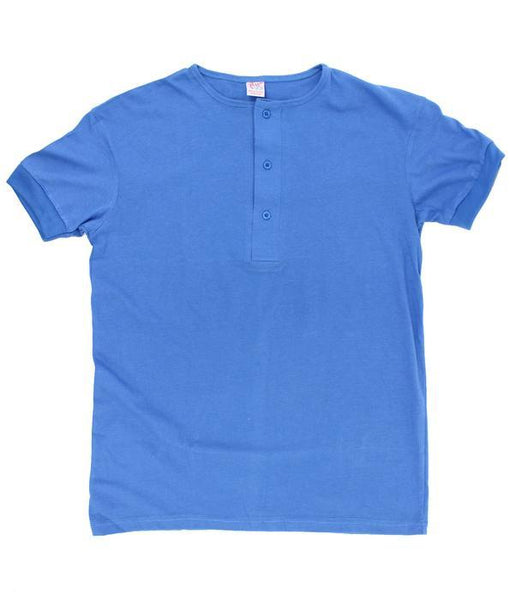 Men's XXL Henley T-shirts. Color: Blue | Wholesale Pack at amazing price. Camisetas Perros Brand