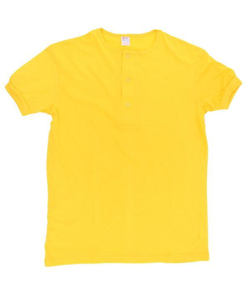 Men's XXL Henley T-shirts. Color: Yellow | Wholesale Pack at amazing price. Camisetas Perros Brand