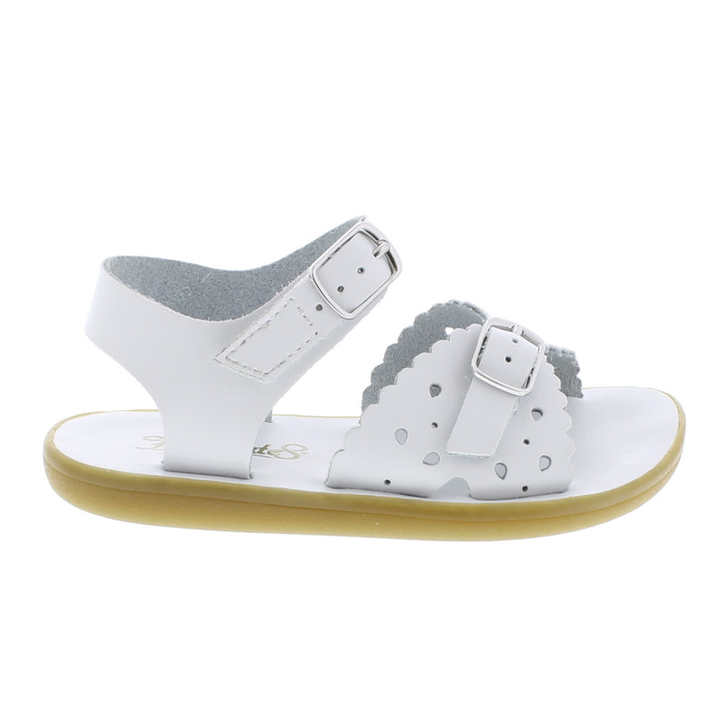Girls Double Strap Sandals - White