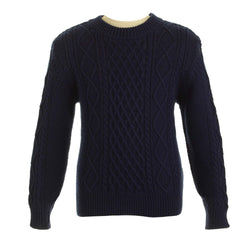 Cable Knit Sweater - Navy