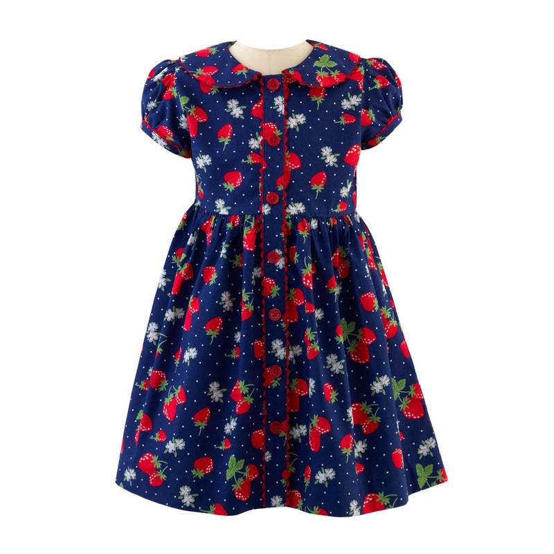 Strawberry Button Front Dress