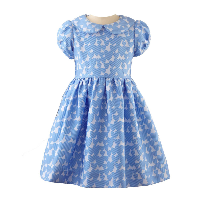 Loveheart Damask Peter Pan Collar Dress
