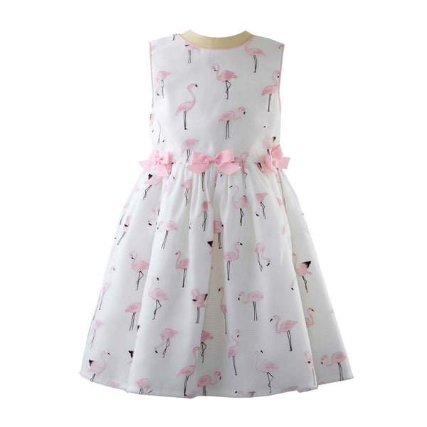 Flamingo Organza Party Dress