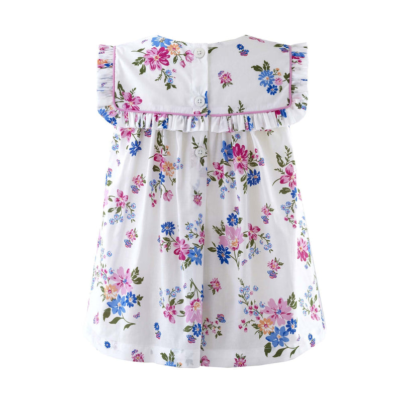 Summer Floral Ruffle Top