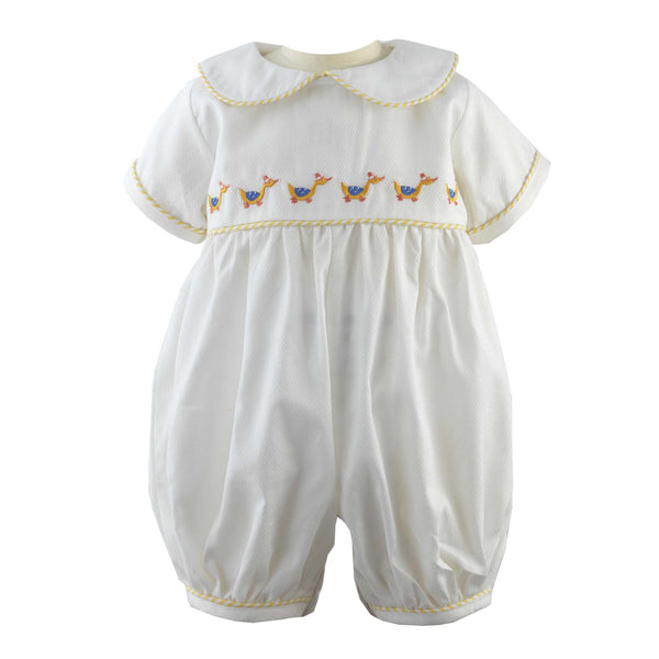 Duckling Embroidered Babysuit