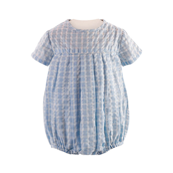 Mini Check Pleated Babysuit