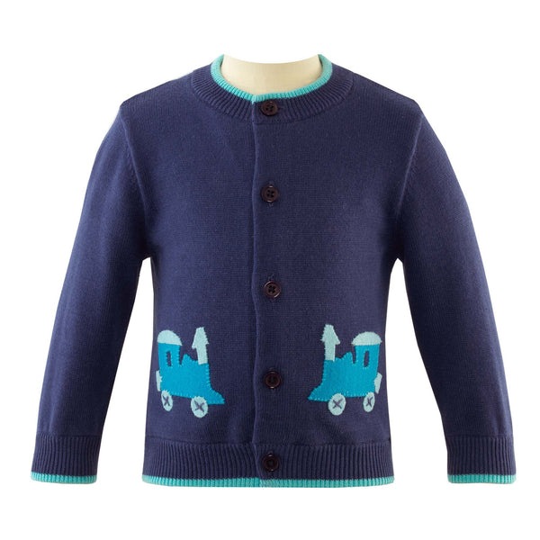Train Applique Cardigan