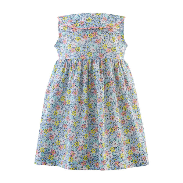 Floral Sleeveless Button Front Dress & Bloomer
