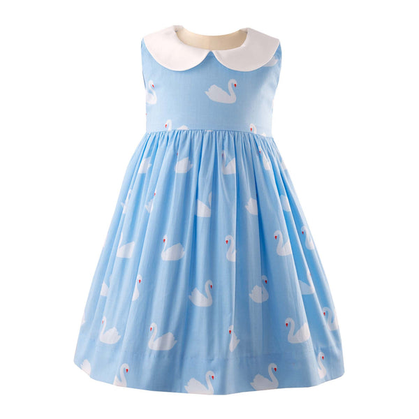 Swan Peter Pan Collar Dress & Bloomer