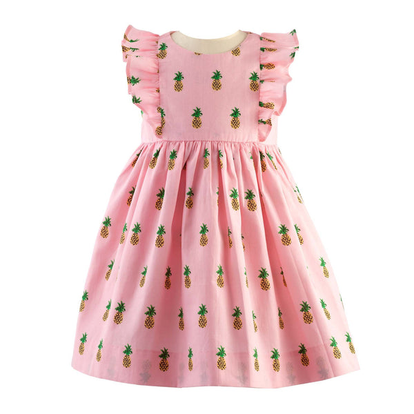 Pineapple Frill Dress & Bloomers