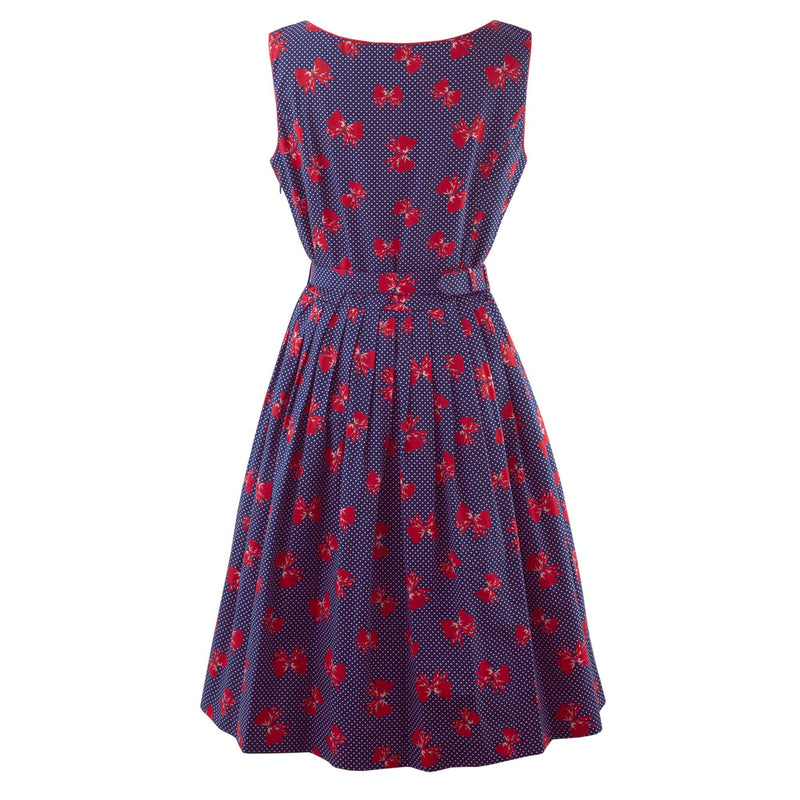 Bow Pleated Dress