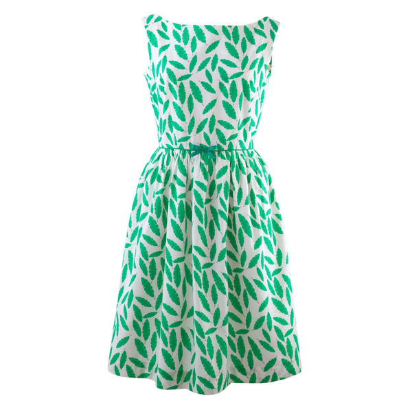 Palm Leaf Gathered Dress