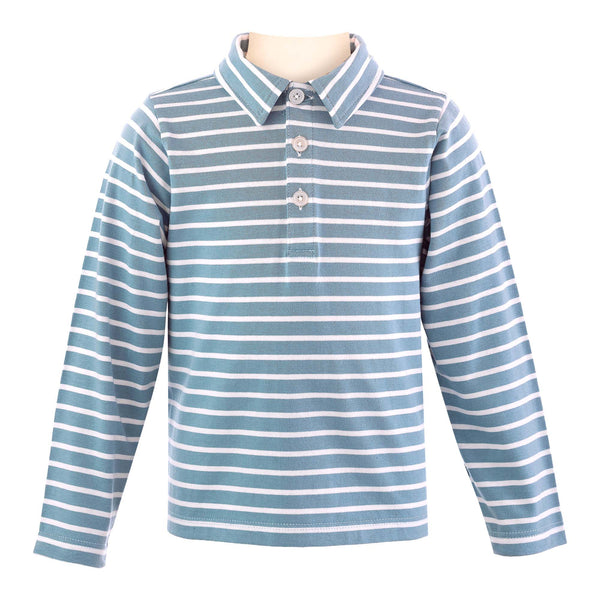 Striped L/S Polo