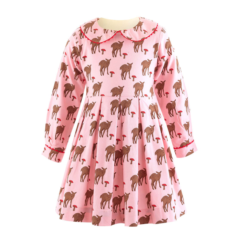 Deer Pleated Dress