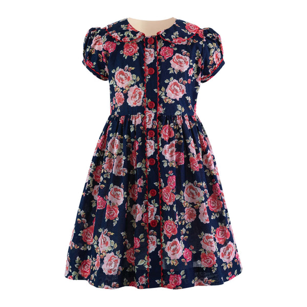 Rose Button Front Dress