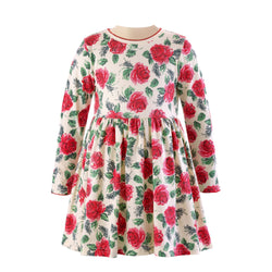 Red Rose Jersey Dress
