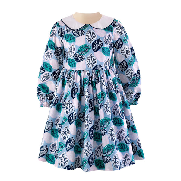 Leaf Peter Pan Collar Dress