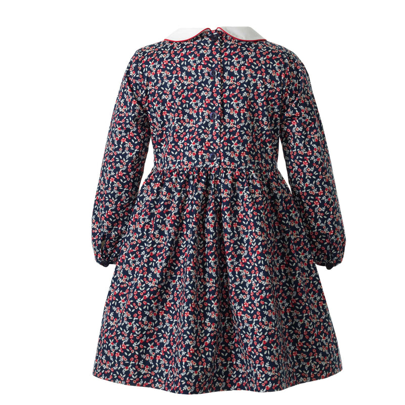 Winter Floral Smocked Dress