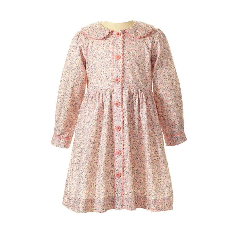 Daisy Long Sleeved Button Front Dress