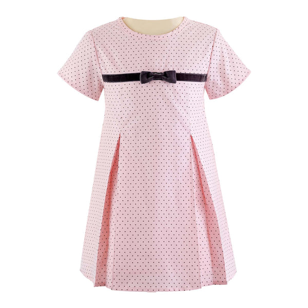 Pin Dot Babycord Shift Dress
