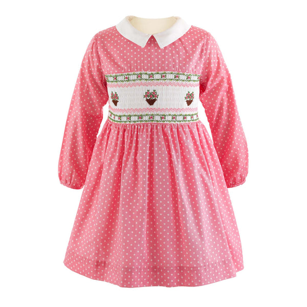 Flower Pot Smocked Dress
